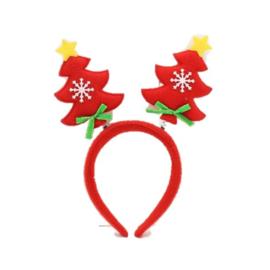Kerstboom diadeem rood