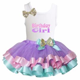 Verjaardag set Birthday Girl, lange mouw