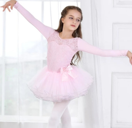 Balletpak roze kant