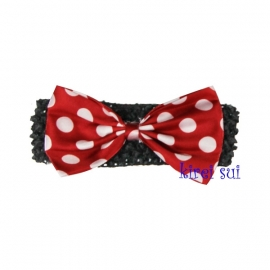 Haarband Minnie Mouse rood