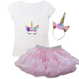 Unicorn tutu set roze