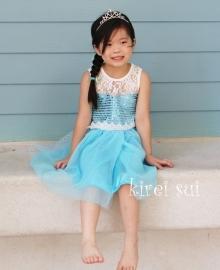 Frozen jurk prinses Elsa