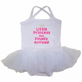 Babyjurk tutu wit Litlle Princess has finally arrived