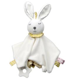 Knuffeldoek konijn, wit