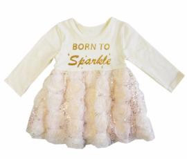 Born To Sparkle glitter champagne longsleeve