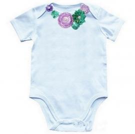 Baby shirt Violet Tulp/Lucite Green