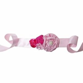 Luxe riem handgemaakt roze-pink