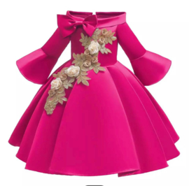 Galajurk pink glanzende jurk