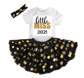 Little Miss 2021 + haarband  (3-delig)