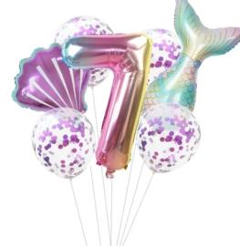 Zeemeermin ballonnenset 7 jaar