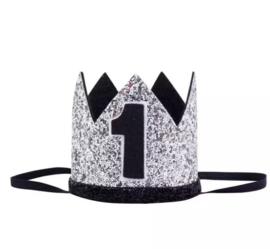 Kroon zwart/zilver 1 jaar