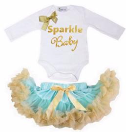 Sparkle Baby lang/korte mouw mint
