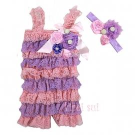 Jumpsuit Luxe lavendel/roze + haarband