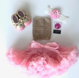 Babyset goud top-roze(4 delig)