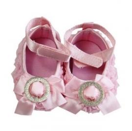 Balletschoen Roze met glitter rondje