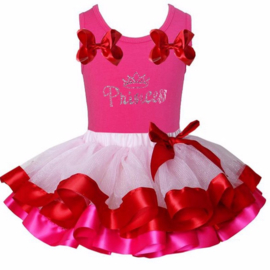 Tutu Satijn set Princess pink