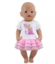 Unicorn baby poppen jurkje