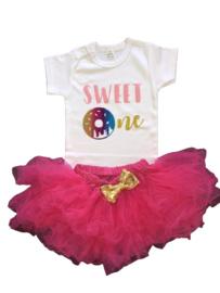 Sweet verjaardag set, pink (2-delig)
