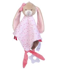 Knuffeldoek konijn, roze