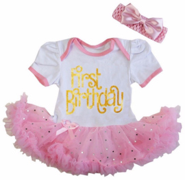Verjaardagjurk First Birthday