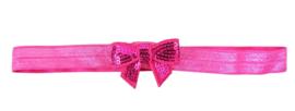 Haarband strik klein, pink