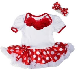 Minnie Mouse babyjurk luxe