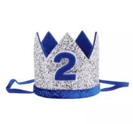 Kroon blauw/zilver 2 jaar