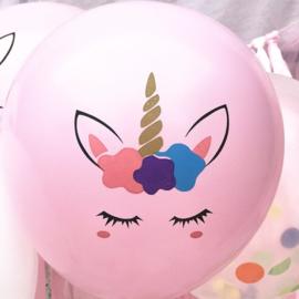 Unicorn Ballonnen nr. 5 - ROZE - 5 stuks