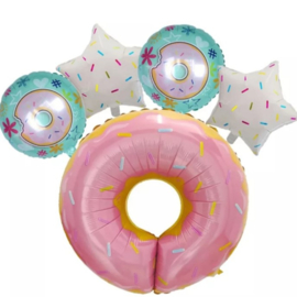 Sweet Donut folieballon (5-delig)