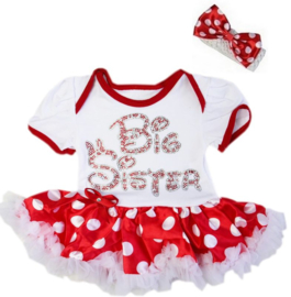 Minnie Mouse babyjurk Big Sister
