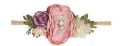Haarband bloemen Theeroos