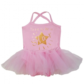 Babyjurk tutu roze Born to be a Star
