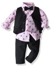 Gentleman jongenspak roze, zeilboot