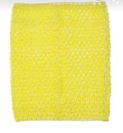 Gehaakte top geel