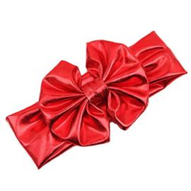 Haarband rood grote strik