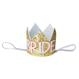 Haarband kroon Bride goud