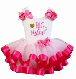 Tutu Satijn set Big Sister pink