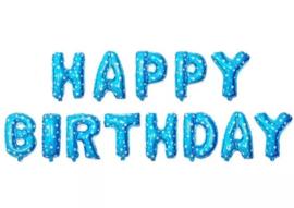 Happy Birthday blauw sterren