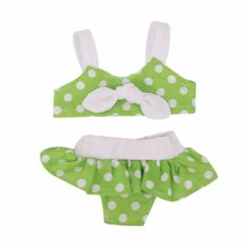 Poppen bikini groen