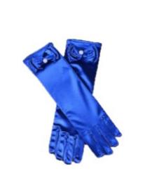 Gala handschoenen lang blauw