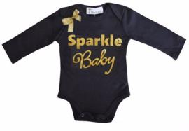 Sparkle Baby lang/korte mouw zwart