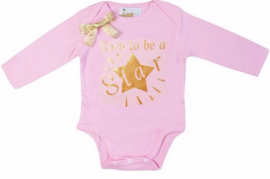 Born To Be A Star lang/korte mouw roze