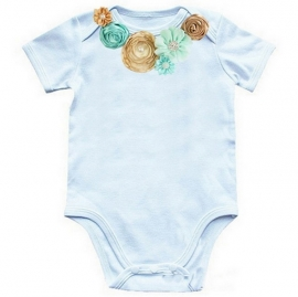 Baby shirt Mint/Gold