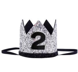 Kroon zwart/zilver 2 jaar