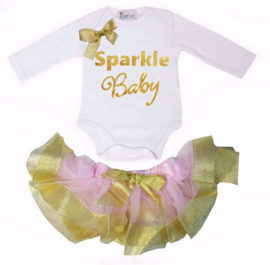Sparkle Baby longsleeve goud