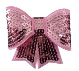 Haarclip strik groot, roze