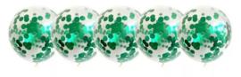 Ballon Dino groen, 5 stuks
