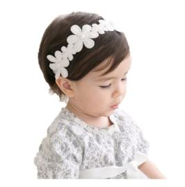 Haarband bloemen parel