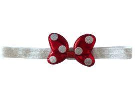 Minnie Mouse haarband rood/zilver