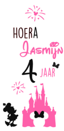 Raamsticker Minnie Mouse roze